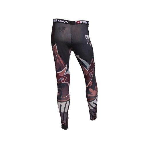 Kompressziós nadrág, Top Ten, MMA Samurai, fekete/piros