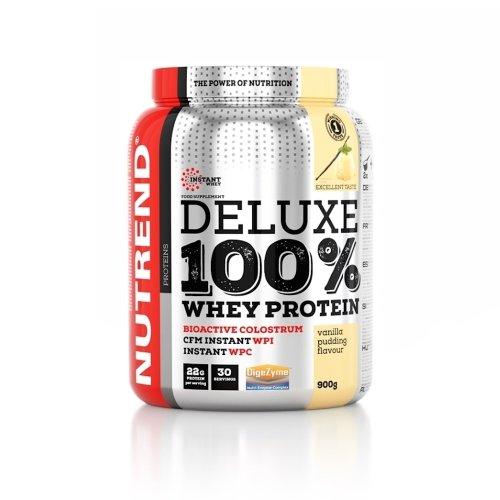 Nutrend, Deluxe 100% Whey Protein, 2250G 7 ízben, Vanília puding ízek