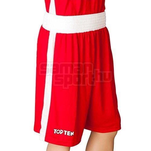 Box nadrág, TOP TEN, AIBA, piros/fehér, XL méret