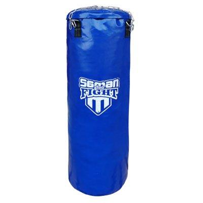 Boxzsák, Saman, Spirit of Fight, kék, 120x40 cm, műbőr, lánccal