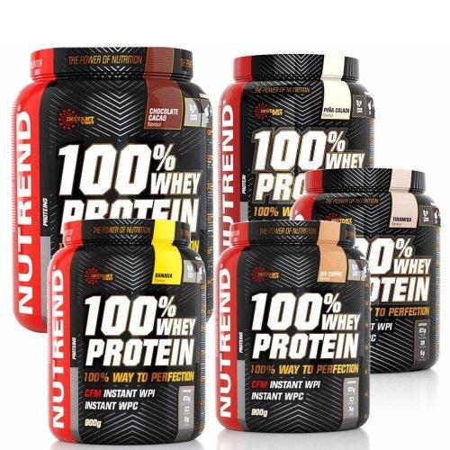 Nutrend, 100% Whey Protein, 900 g 13 ízben