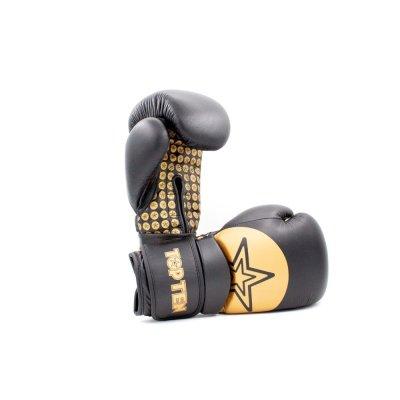Boxkesztyű, Top Ten, Wrist Star, Fekete-arany szín, 12 oz méret