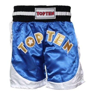 Kick-box nadrág, Top Ten, Kick Light, WAKO, Kék-fehér szín, XXL méret