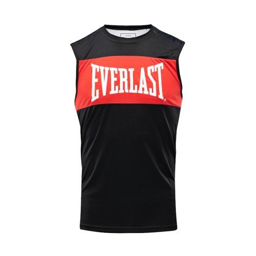 Box trikó, Everlast, Jab, férfi, Fekete-piros szín, L méret