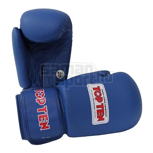 Boxkesztyű, Top Ten, AIBA, Kék szín, 12 oz méret