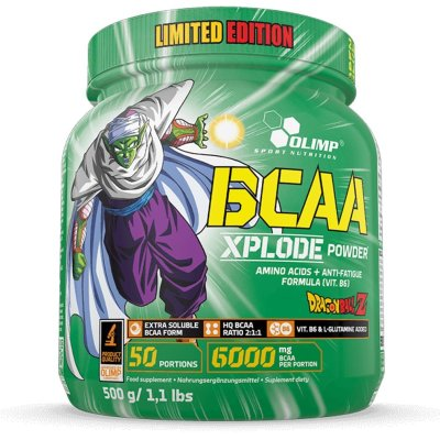 Olimp, BCAA XplodeDragon Ball Edition, aminosav, ice tea ízű, 500 g
