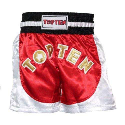 Kick-box nadrág, Top Ten, Kick Light, WAKO, Piros-fehér szín, M méret