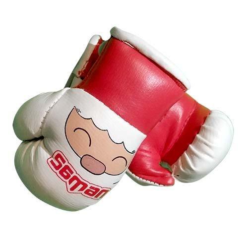 Dísz boxkesztyű, Saman, felakasztós, párban, piros/fehér, Red Mike
