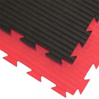 Karate Tatami, 1m*1m*2cm, Professional Double, piros-fekete