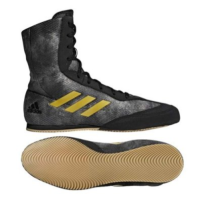 Boxing shoes, adidas, BoxHog Plus, black/gold, 42 2/3 size, 42 2/3 méret, 42 2/3 mărimea, 42 2/3 size, 42 2/3 méret, 42 2/3 méret