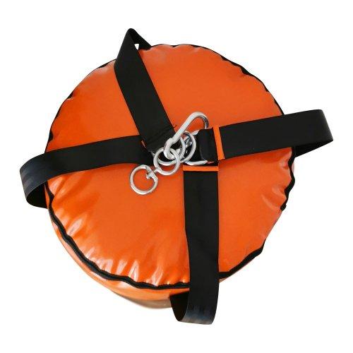 Boxzsák, Saman, Colours, 120x40 cm, műbőr, fekete/narancs