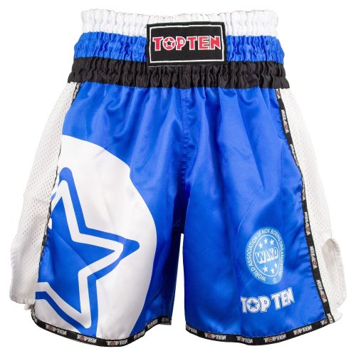 Kick-box shorts, Top Ten, WAKO Star, Kék szín, XXL size, Kék szín, XXL méret, Kék szín, XXL mărimea, Kék szín, XXL size, Kék szín, XXL méret, Kék szín, XXL méret