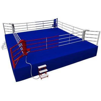 Boxring, Olympic, Saman, 7,8x7,8 m, 4 soros, AIBA szabvány