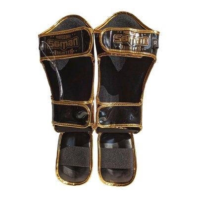Thai lábszárvédő, Saman, Gleam KID, fekete/arany, XS