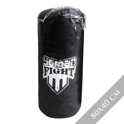 Boxzsák 100 cm-ig, Saman Spirit of Fight, műbőr, lánccal, 100x40 cm méret