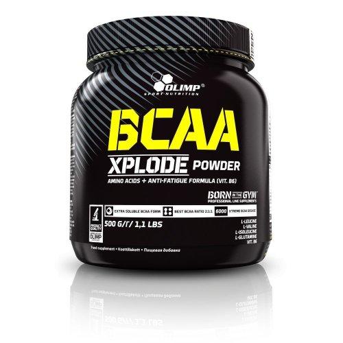 Olimp BCAA Xplode, aminosav, 500 g, Eper ízek