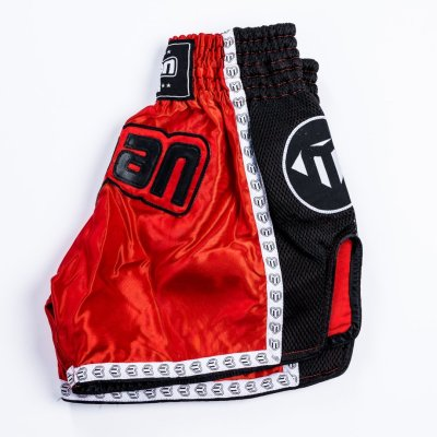 Thai-Box nadrág, Saman, Colours 1985, polyester, piros/fekete