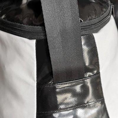 Boxzsák, Saman, Bogyó, 62x52 cm, PU, fekete/fehér