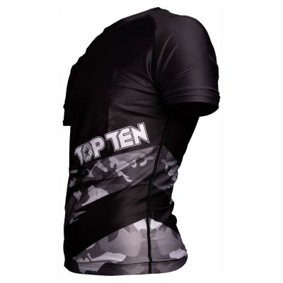 MMA Rashguard, Top Ten, Scratched, fekete