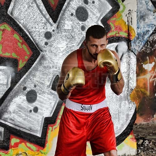 Box trikó, Saman, Competition, piros, S méret