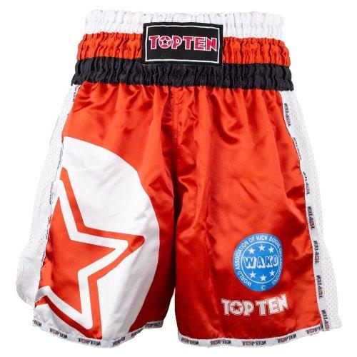 Kick-box shorts, Top Ten, WAKO Star, Piros szín, XL size, Piros szín, XL méret, Piros szín, XL mărimea, Piros szín, XL size, Piros szín, XL méret, Piros szín, XL méret