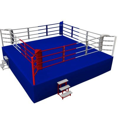Competition Boxing Ring, Saman, 6,5x6,5m, 4 soros
