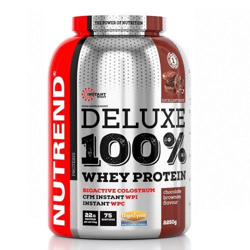 Nutrend, Deluxe 100% Whey Protein, 2250G 7 ízben, Csokis brownie ízek