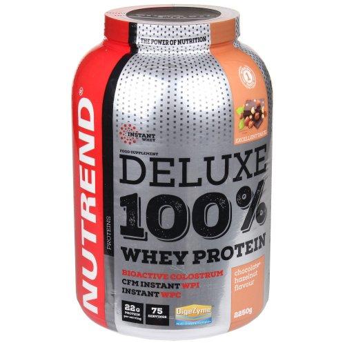 Nutrend, Deluxe 100% Whey Protein, 2250G 7 ízben, Csokoládé-mogyoró ízek