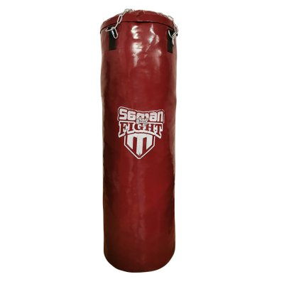 Boxzsák, Saman, Spirit of Fight, burgundi, 120x40 cm, műbőr, lánccal