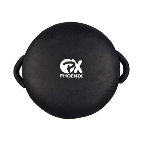 Körpajzs, edzői, bőr, 40 cm átmérő, fekete