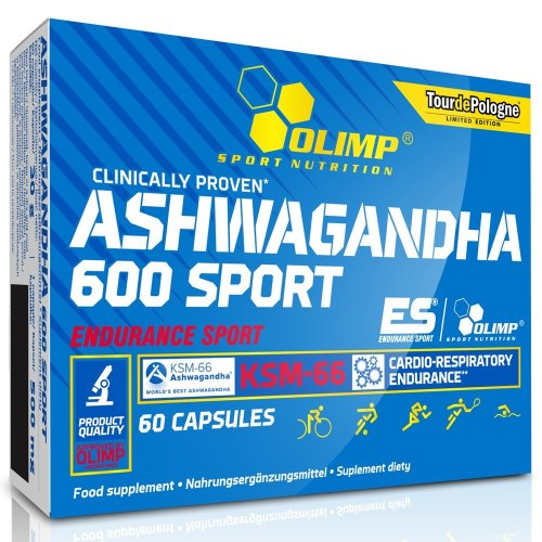 Olimp, Ashwagandha 600 Sport Edition, indiai ginzeng, 60 kapszula